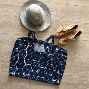 Gap dress with tye dye geometric print